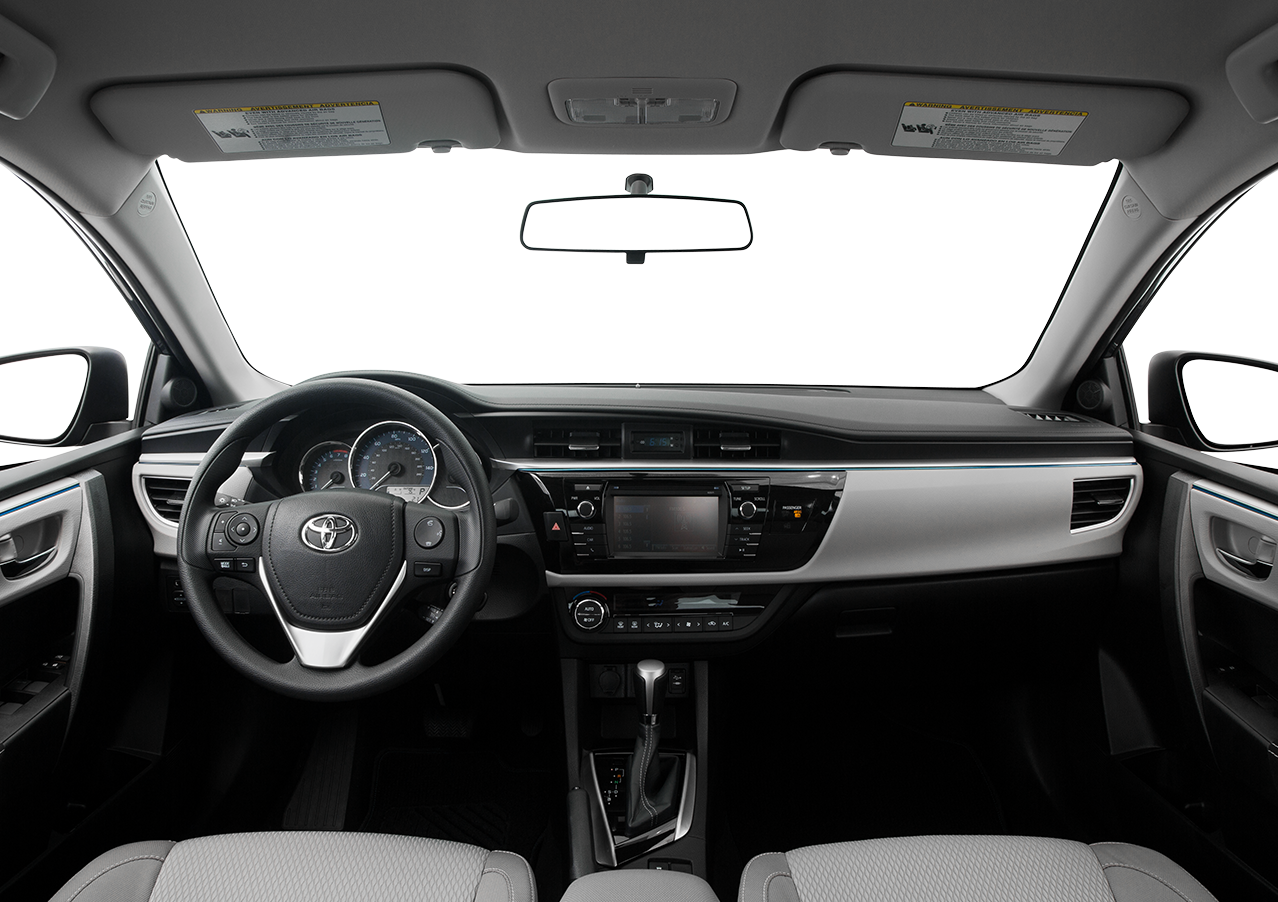 Interior view of the 2016 Toyota Corolla