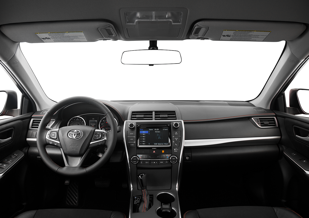 Interior view of the 2016 Toyota Camry